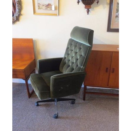 C. 1970s Green Office Chair - Image 2 of 7
