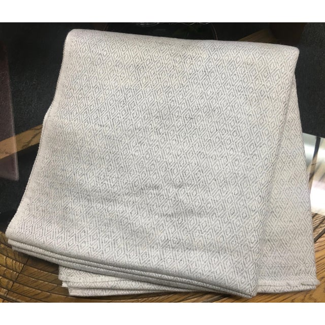 Diamond Design Cashmere Blend Blanket - Image 7 of 9