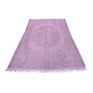 "Turkish Pink Overdyed Rug - 64"" x 102"""