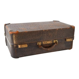Vintage Antique Walrus Leather Hardcase Suitcase