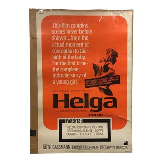 "1968 ""Helga"" Vintage Movie Poster"