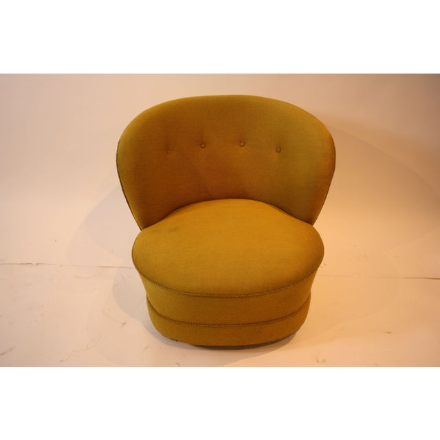 1940s Chartreuse Slipper Chair - Image 3 of 7