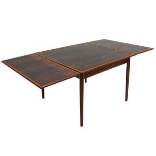 Danish Rosewood Drop Leaf Dining Table
