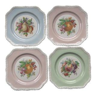 "Vintage Mid-Century Johnson Bros. Luncheon Plates ""California"" - Set of 4"