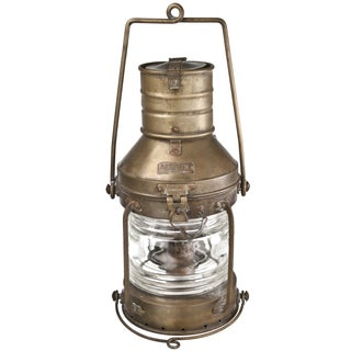 1950s Anchor Brass Ship Lantern