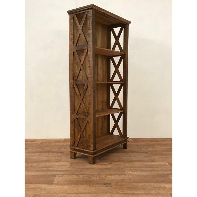 Handmade Reclaimed Solid Wood Etagere/ Bookshelf - Image 3 of 4