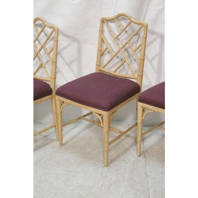 Image of Faux Bamboo Chippendale Chairs - S/4