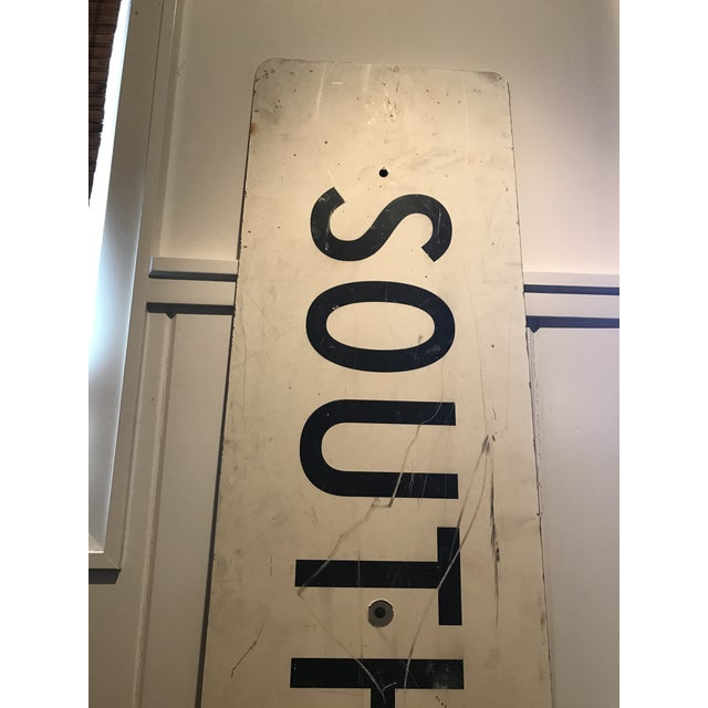 Large Vintage Industrial Metal South Waxahachie, Texas Sign - Image 2 of 8