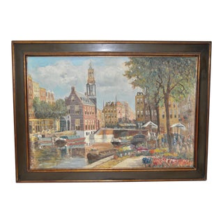 Amsterdam Oil Painting c.1940s