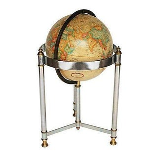 Replogle Brass & Chrome Floor Globe