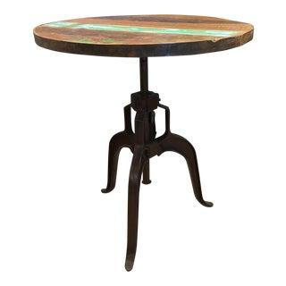 Rustic Adjustable Mechanical Side Table