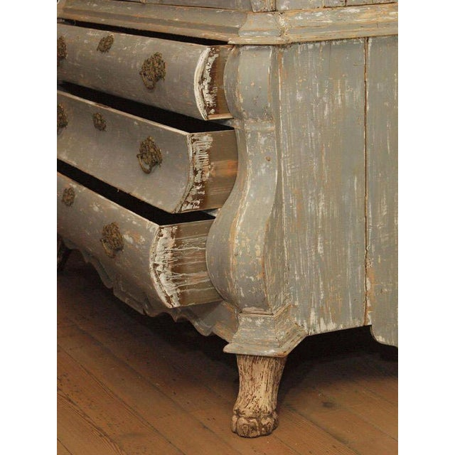 19th C Dutch Painted Buffet Deux Corp - Image 6 of 11