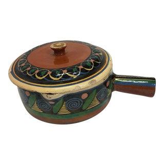 Glazed Art Ceramic Pot & Lid