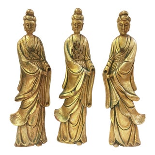 Vintage Asian Giltwood Princesses - Set of 3