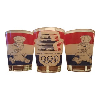 1984 Olympic Drinking Glasses - Set of 3