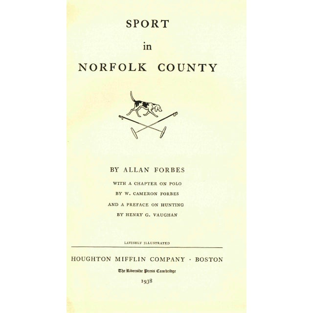 "Image of 1938 Limited Edition ""Sport In Norfolk County"""