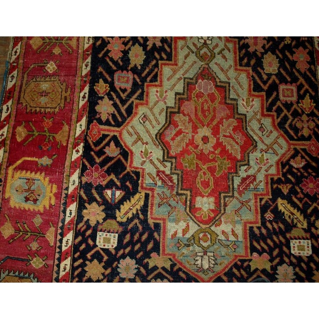 1880s Antique Hand Made Caucasian Karabagh Rug- 4′6″ × 11′7″ - Image 2 of 10