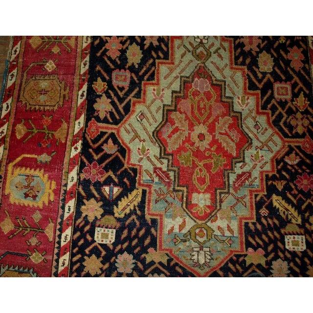 Image of 1880s Antique Hand Made Caucasian Karabagh Rug- 4′6″ × 11′7″