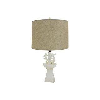 1950's White Alabaster Dragon Lamp