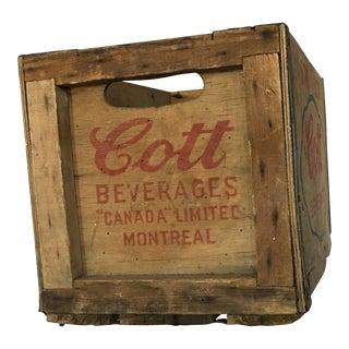 Old Cott Beverages Wood Crate