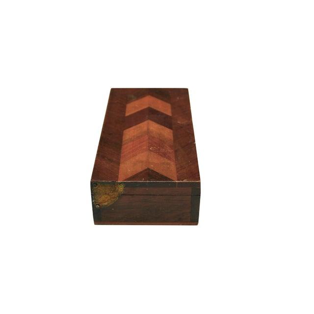 Herringbone Walnut Trinket Box - Image 3 of 4