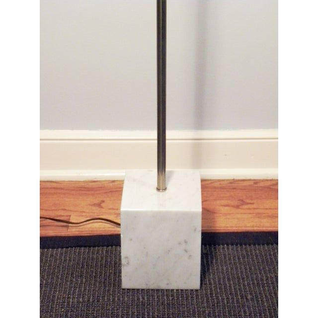 Mid-Century Chrome & Marble Pencil Floor Lamp - Image 4 of 8