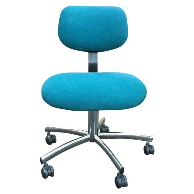 Teal Office Chair : Steelcase modern teal swivel office chair chairish