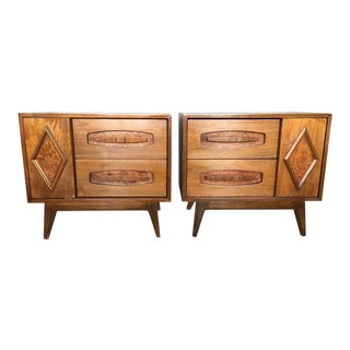 Sculptural Mid-Century Night Stands - A Pair