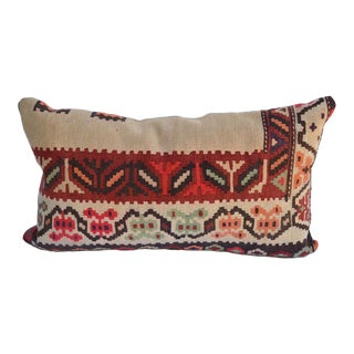 Vintage Kilim Rug and Linen Pillow