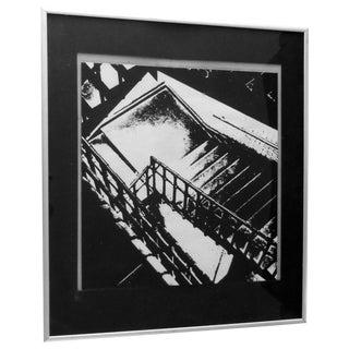 Jack Schwartz Empty Staircase Modernist Print