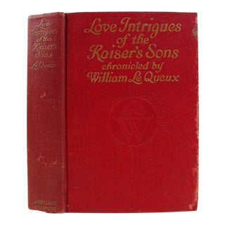 "1918 ""Love Intrigues of the Kaiser's Sons"" Book"