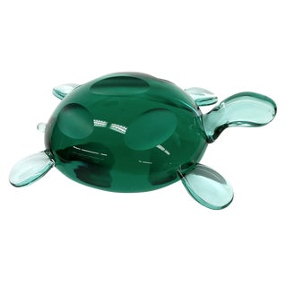 Modern Jade Green Crystal Turtle