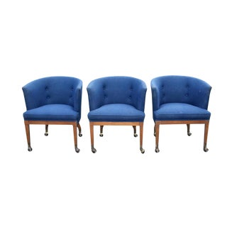 Vintage Club Chairs - Set of 3