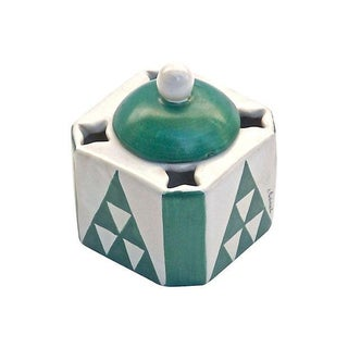 Jacques Adnet Vintage Art Deco Ceramic Inkwell