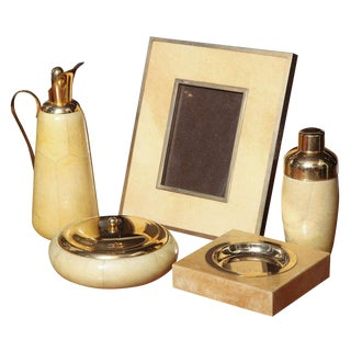 Aldo Tura Set of Goatskin Decorative Pieces (5 Items)