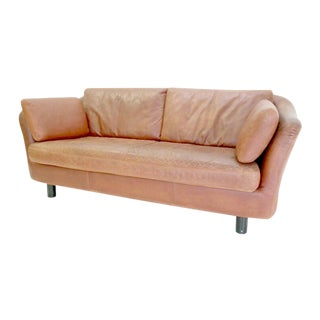 1970's Vintage Dux Leather Sofa