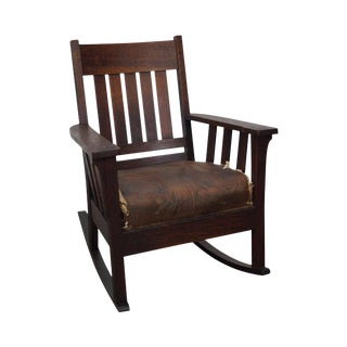 Antique Mission Oak Rocker