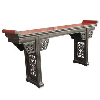 Antique Carved Asian Alter Table