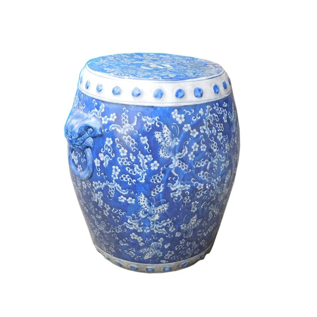 Chinese Blue White Porcelain Butterflies Stool - Image 3 of 4