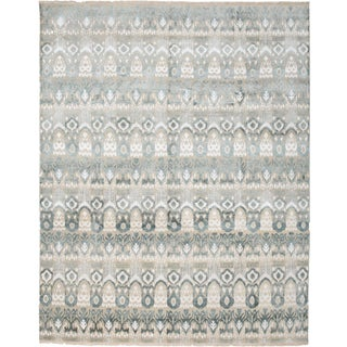 "New Gray Hand-Knotted Rug - 8'1"" X 10'1"""