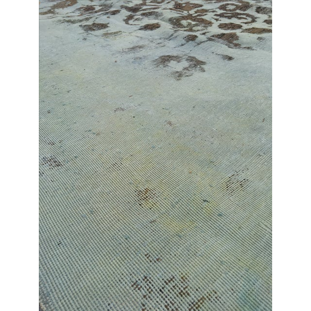 """Overdyed Distressed Persian Rug - 9' X 10'4"""" - Image 5 of 10"""