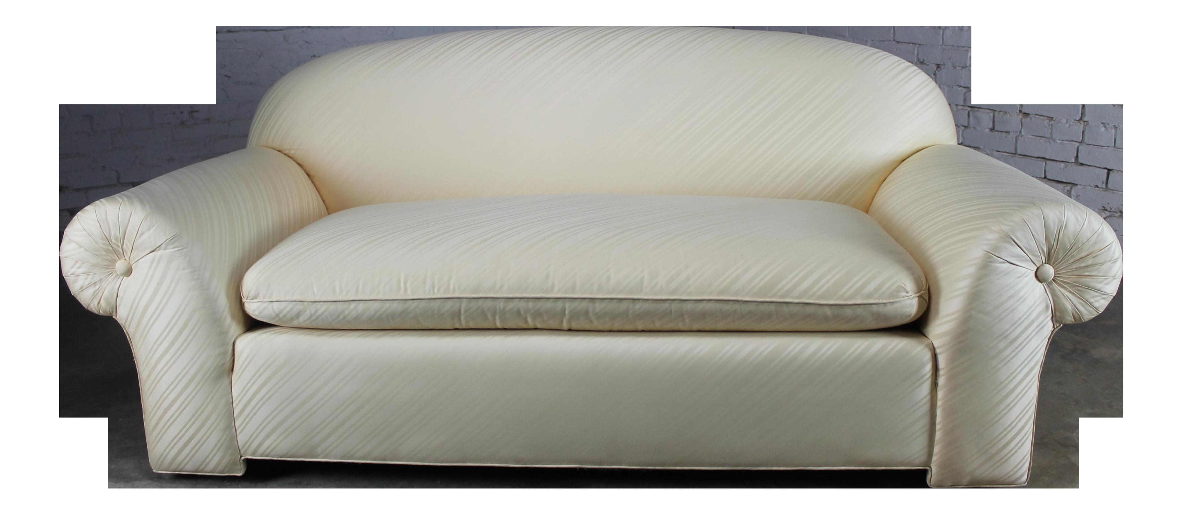 Good 1976 Vintage White Donghia Sofa