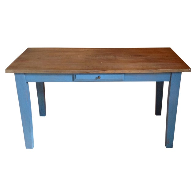 Blue Farmhouse Table - Image 1 of 8