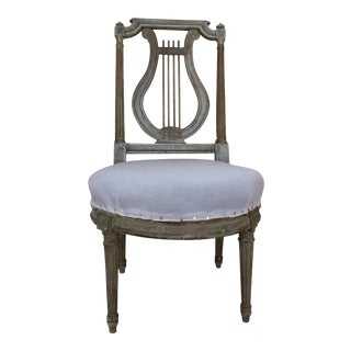Antique French Slipper Chair