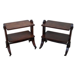 Drexel Lillian August Regency Side Tables - Pair