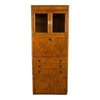 Drexel Mid-Century Modern Campaign Style Bar/Cabinet, Circa 1960