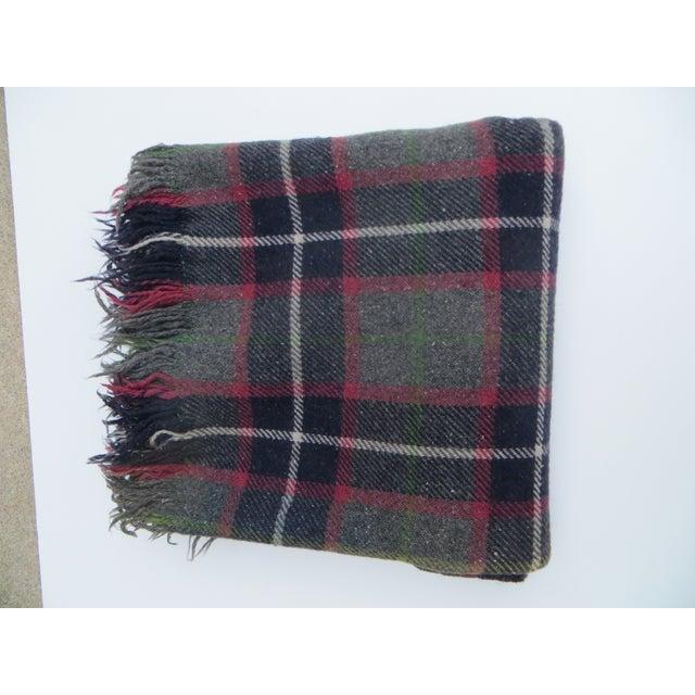 Gray Plaid Blanket - Image 3 of 3