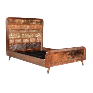 Reclaimed Wood Retro Queen Bed Frame