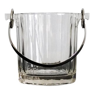 Vintage Glass & Silver-Plate Ice Bucket