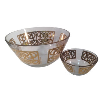 Georges Briard Gold Chip and Dip Bowls - Pair